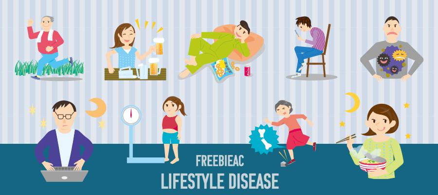 生活習慣病イラスト素材 無料素材ならフリービーAC