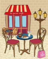 パリのイラスト