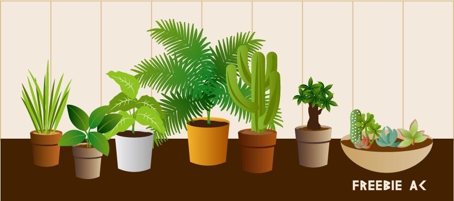 観葉植物のイラスト素材freebie Ac Mail Magazine
