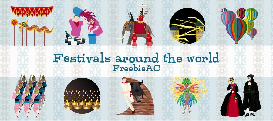 世界のお祭りイラスト素材freebie Ac Mail Magazine