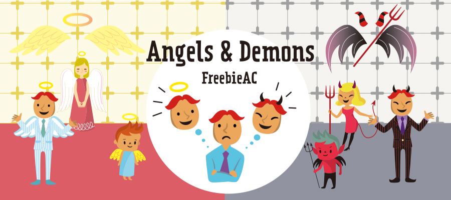 天使と悪魔イラスト素材freebie Ac Mail Magazine