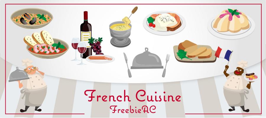 フランス料理のイラスト素材freebie Ac Mail Magazine